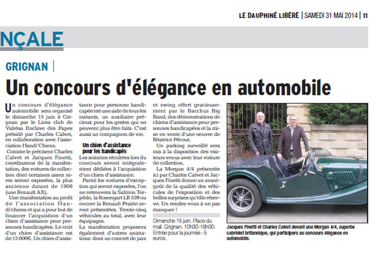 Article Dauphiné 2014 05 31