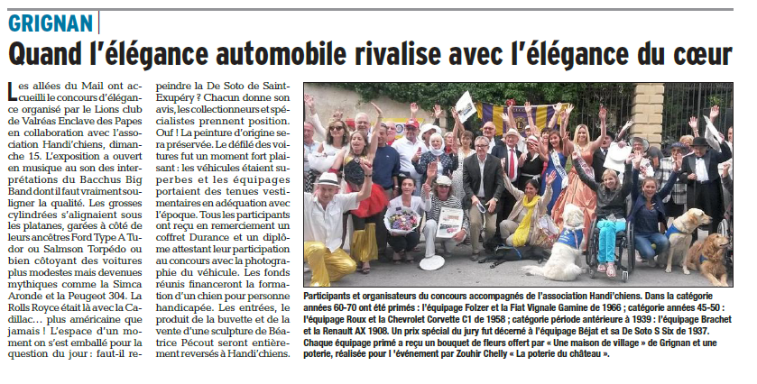 Article Dauphiné 21 06 2014